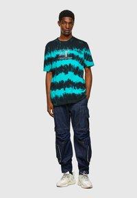 Diesel - Print T-shirt - blue/black - 1