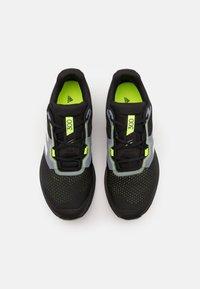 adidas Performance - TERREX TWO FLOW - Løpesko for mark - core black/crystal white/solar yellow - 3
