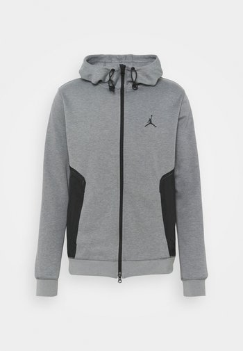 AIR  HOODIE - Felpa con zip - carbon heather/black