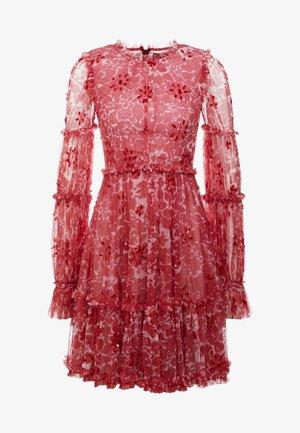 ANYA EMBELLISHED DRESS - Vapaa-ajan mekko - cherry red