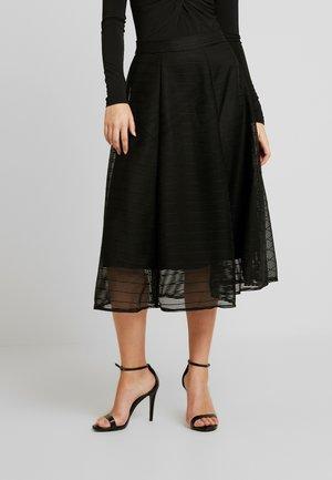 REEZA SKIRT - Áčková sukně - black