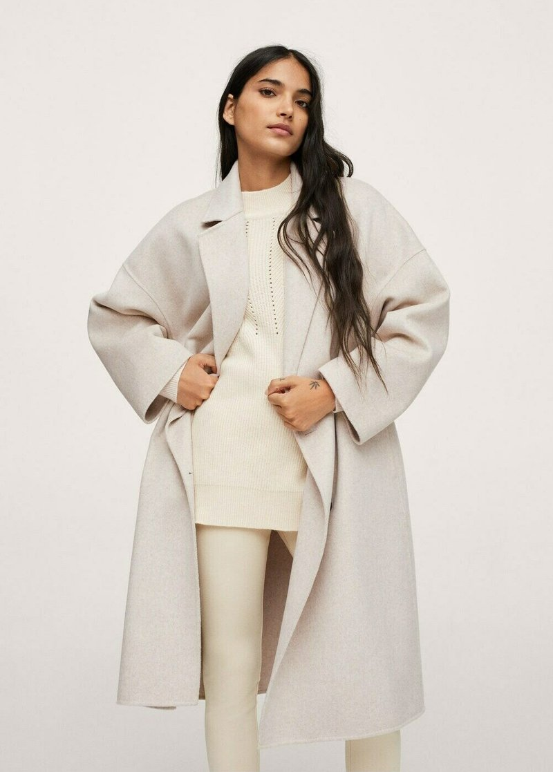 Mango - Classic coat - steenkleur