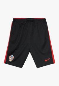 Nike Performance - KROATIEN CRO Y NK BRT STAD HA - Sports shorts - black/university red - 0