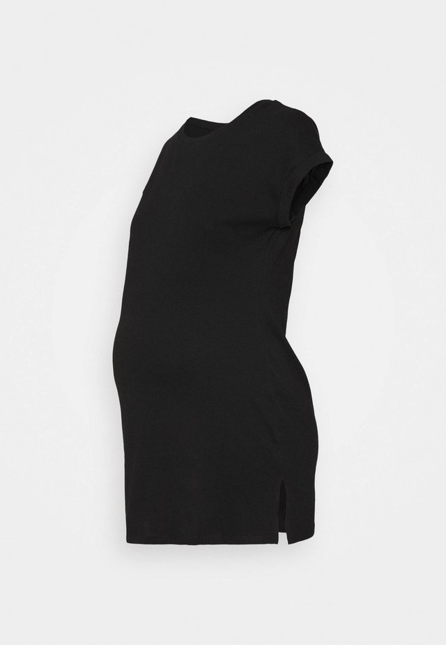 MATERNITY PLAIN LONGLINE TEE - T-shirt con stampa - black