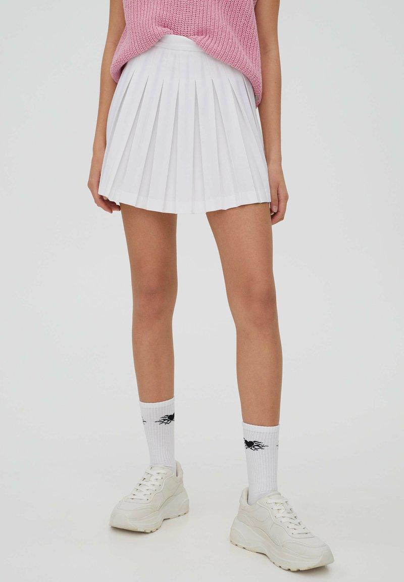 PULL&BEAR - Spódnica trapezowa - white