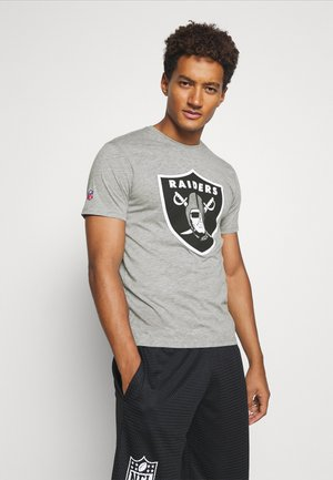 NFL OAKLAND RAIDERS ICONIC SECONDARY COLOUR LOGO GRAPHIC - Klubové oblečení - sports grey