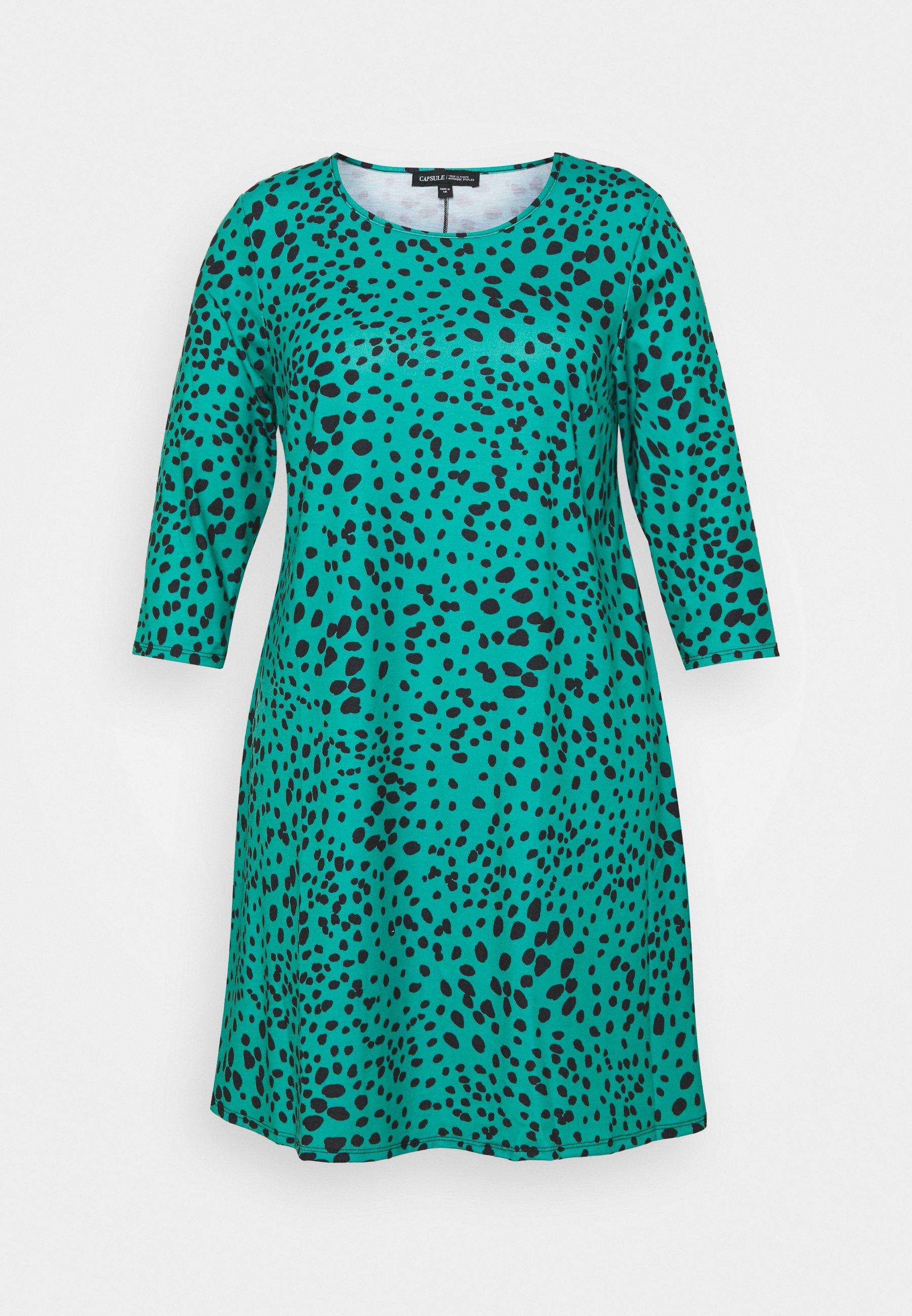 Women 3/4 SLEEVE SWING DRESS - Day dress