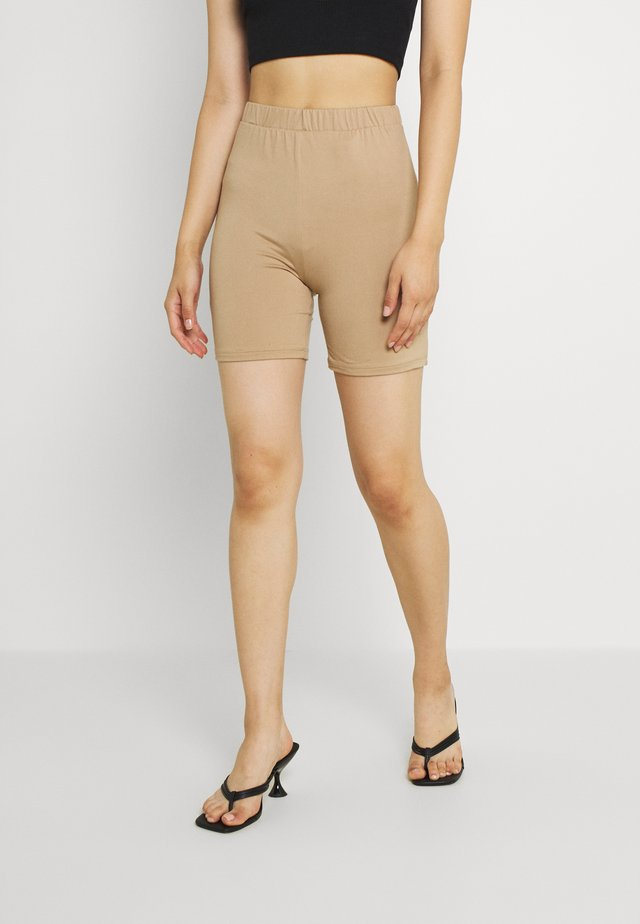 VIBE BIKER - Shorts - beige