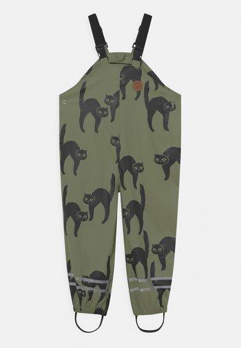 CATZ RAIN HIGH TROUSERS UNISEX - Rain trousers - green
