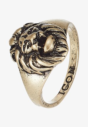LION HEAD SIGNET - Bague - gold-coloured