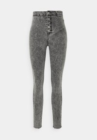 Missguided Tall - VICE BUTTON UP - Jeans Skinny Fit - grey - 0