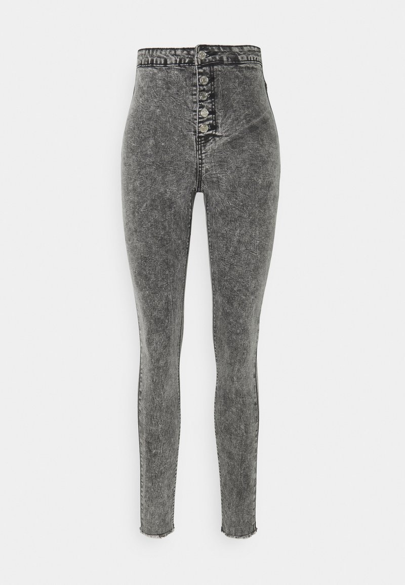 Missguided Tall - VICE BUTTON UP - Jeans Skinny Fit - grey