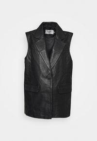 BRITT BLAZER VEST - Waistcoat - black