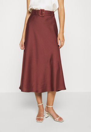 MYRA SKIRT - Maxi skirt - dark dusty rose