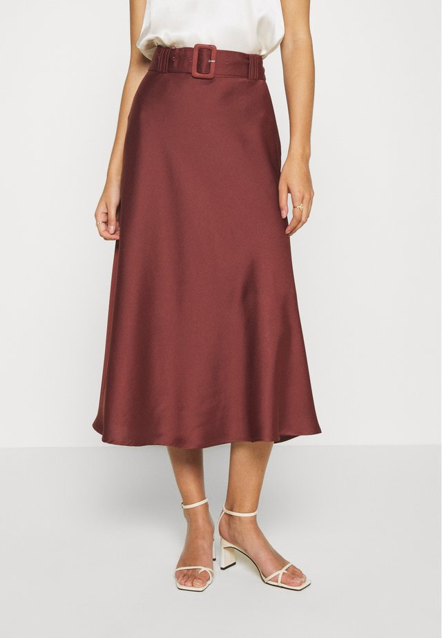 MYRA SKIRT - Maxi sukně - dark dusty rose