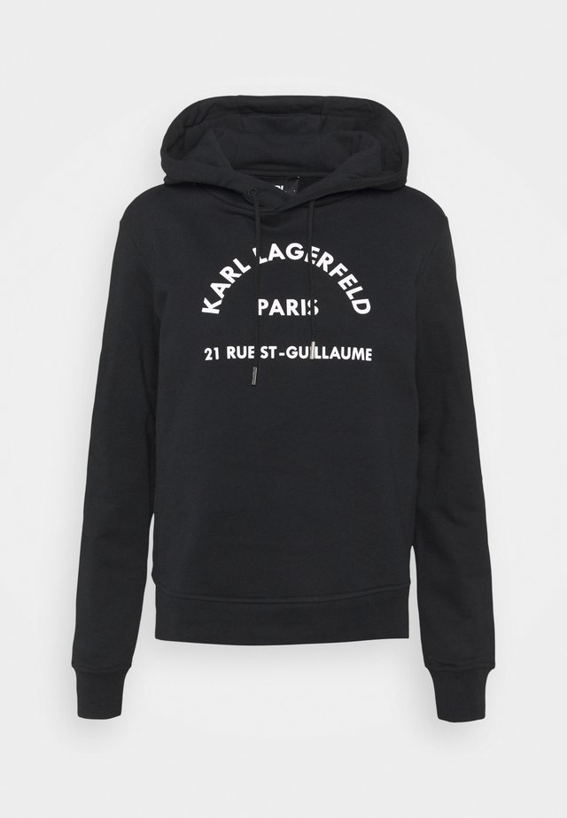 ADDRESS LOGO HOODIE - Felpa - black
