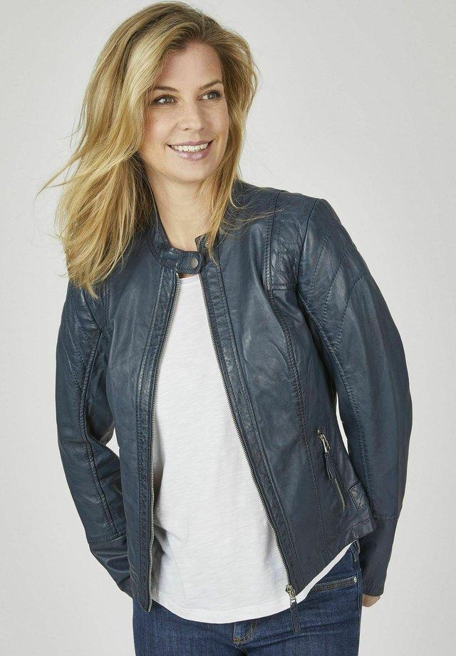 Leather jacket - dunkelblau
