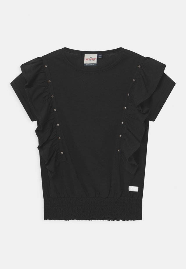 VALERIE - T-shirt con stampa - black