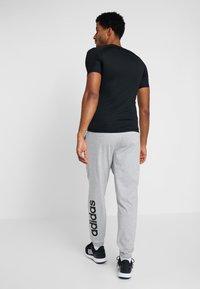 adidas Performance - Verryttelyhousut - medium grey heather/black - 2