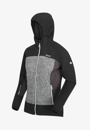 Soft shell jacket - black ash