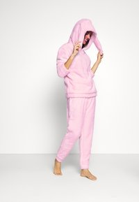 Loungeable - PINK BUNNY HOODED TWOSIE SET - Pyjamas - pink - 1