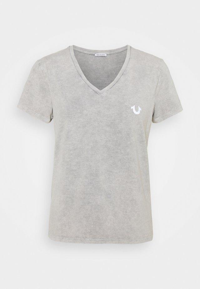VNECK ASHAPE  - Jednoduché triko - grey