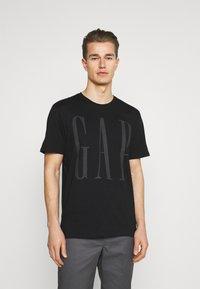 GAP - 2 PACK - Print T-shirt - black/white - 1