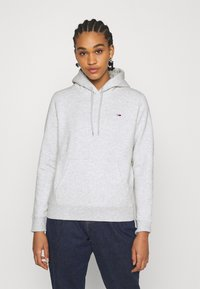 Tommy Jeans - REGULAR HOODIE - Sweat à capuche - silver grey heather - 0