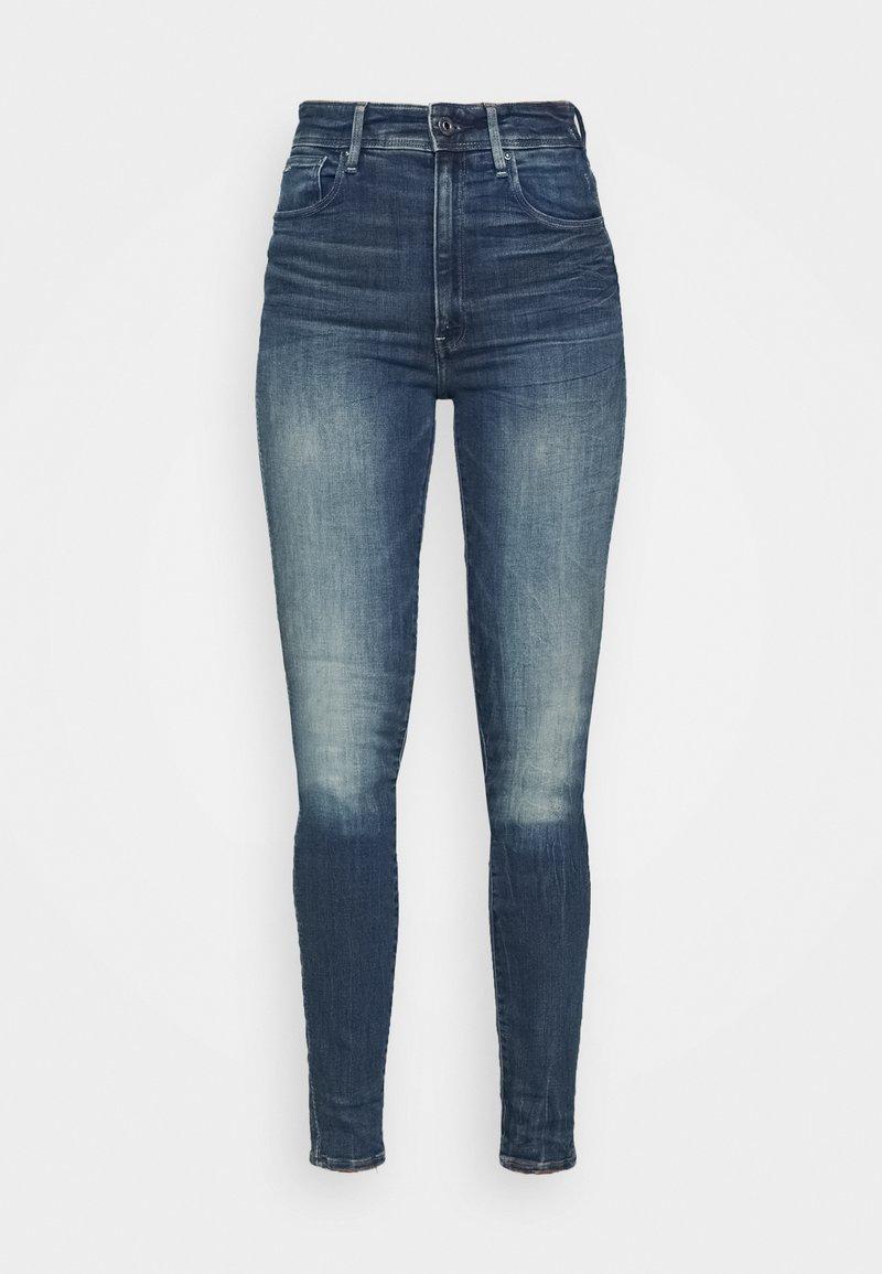 G-Star - KAFEY ULTRA HIGH SKINNY - Jeans Skinny Fit - antic faded baum blue