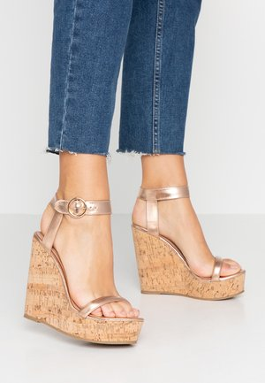 OLA - High heeled sandals - rose gold