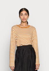 Monki - URSULA - Langærmede T-shirts - black/white /yellow - 1