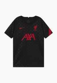 Nike Performance - FC LIVERPOOL DRY - Club wear - black/gym red - 0