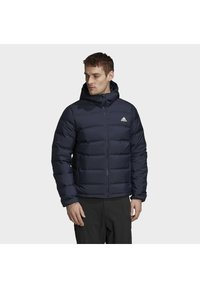 adidas Performance - HELIONIC OUTDOOR HOODED DOWN - Chaqueta de plumas - blue - 0