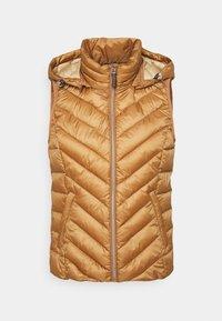 Esprit - PER THINSU VEST - Waistcoat - beige - 0