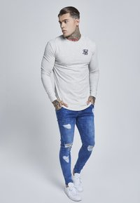 SIKSILK - LONG SLEEVE GYM TEE - Camiseta de manga larga - snow marl - 1