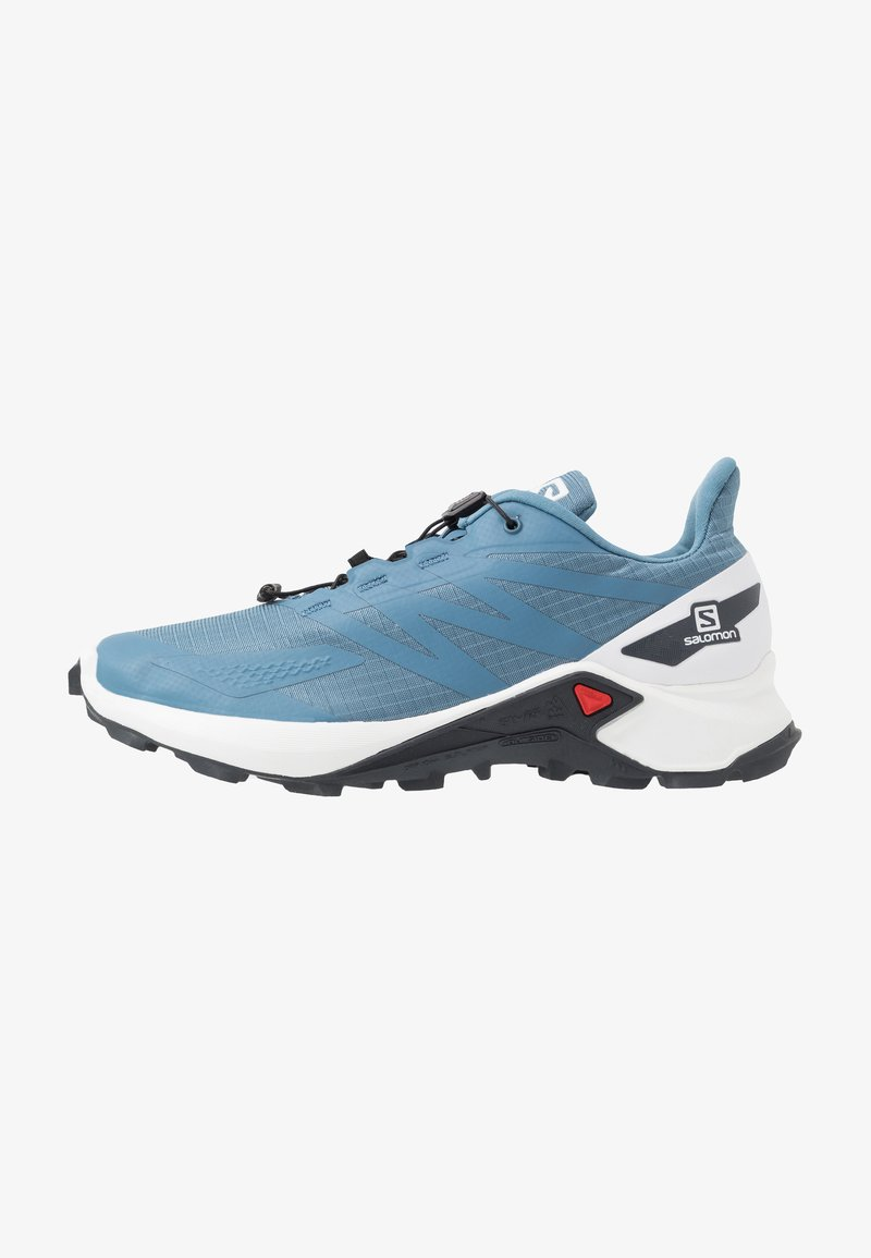 Salomon - SUPERCROSS  BLAST - Trail running shoes - copen blue/white/ebony