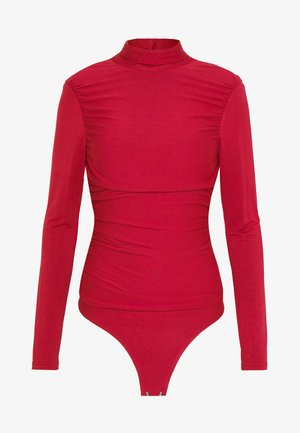 RUCHED DETAIL LONG SLEEVE - Longsleeve - red