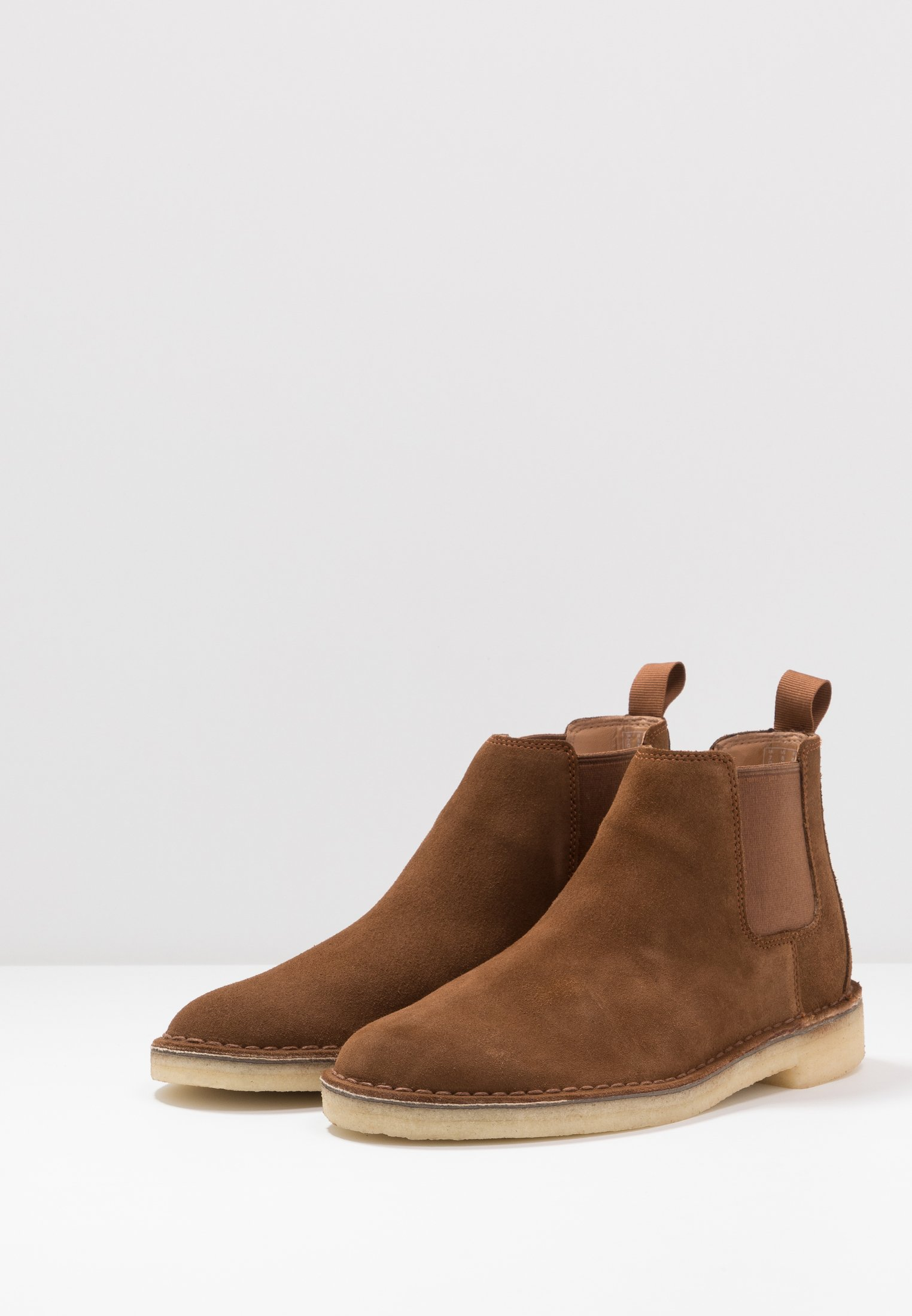 High Quality Cheapest Clarks Originals DESERT CHELSEA - Classic ankle boots - cola | men's shoes 2020 NBJuH