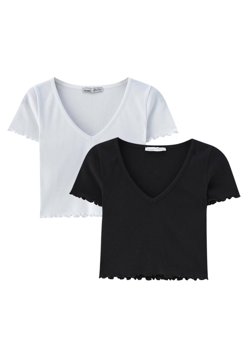 PULL&BEAR - 2PACK - T-shirt basic - white