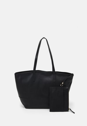 LEATHER SET - Tote bag - black