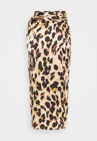 Never Fully Dressed Tall - ARTIST PRINT JASPRE SKIRT - Wrap skirt - brown - 6