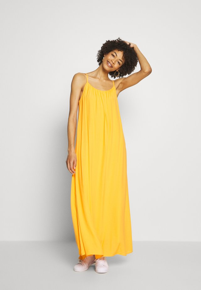 MIJA DRESS STRAPS VOLUME SKIRT PART - Maxi-jurk - bright orange