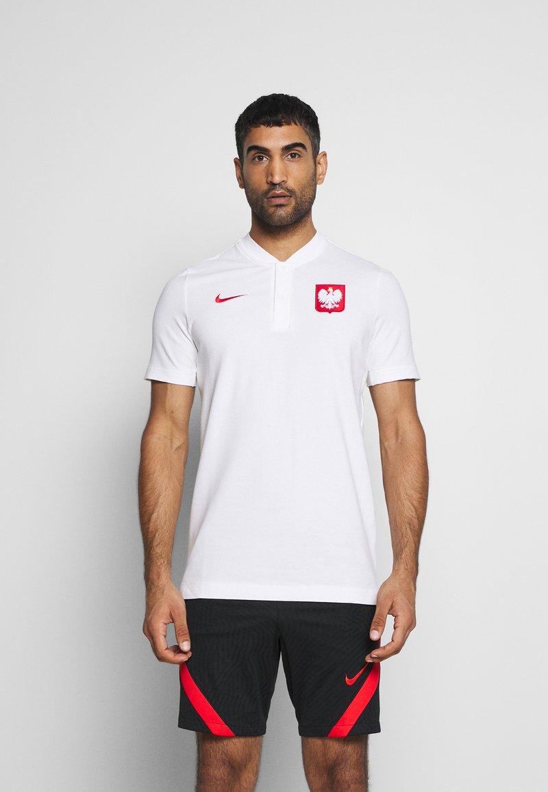 Nike Performance - POLEN MODERN  - Print T-shirt - white/sport red