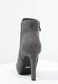Buffalo - High heeled ankle boots - grey - 3