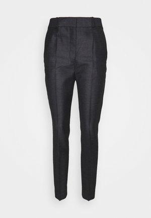 DRAINPIPE TROUSER - Spodnie materiałowe - grey melange
