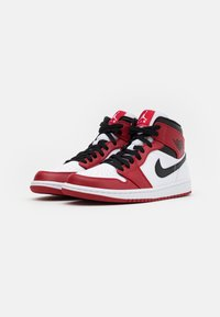 Jordan - AIR 1 MID - Sneakers hoog - white/gym red/black - 1