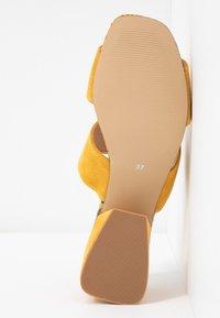 Steve Madden - KELINE - Heeled mules - yellow - 6