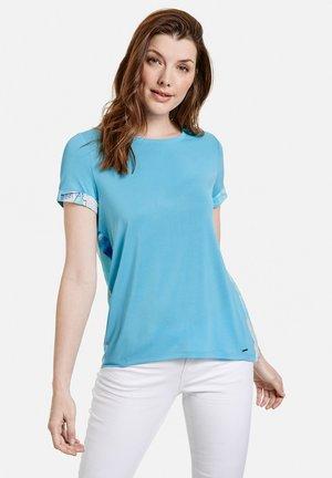T-shirt print - blue curacao gemustert