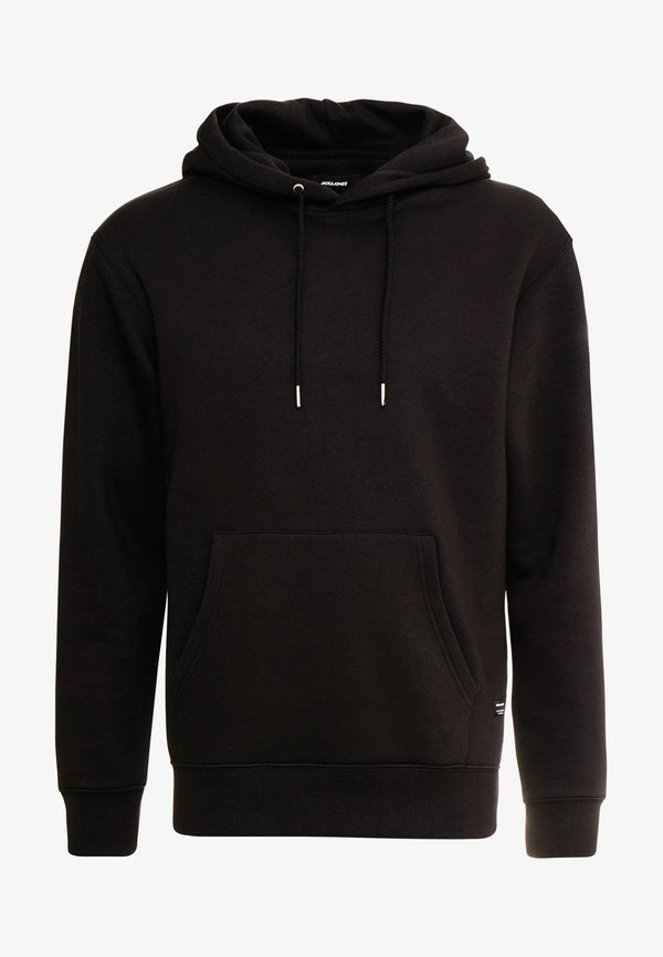 Jack & Jones JJESOFT - Bluza z kapturem - black/czarny Odzież Męska NRUA