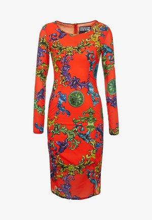 Pouzdrové šaty - orange